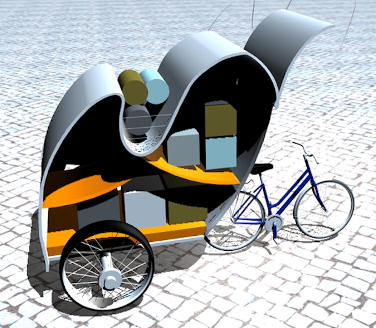 Carriole pour déménager à vélo