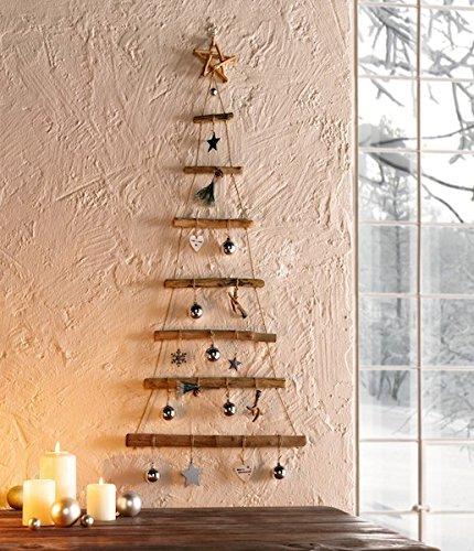 Sapin de Noël en bois à suspendre