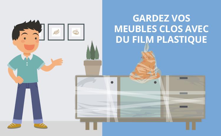Astuces déménagement film plastique