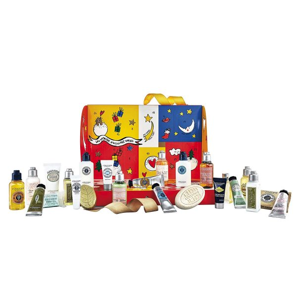 Calendrier de l'avent Occitane gels douche shampoings huiles essentielles